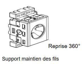 Support de maintien des fils - connecteur SLX commscope