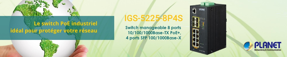 Switch PoE industriel IGS-5225 8P4S