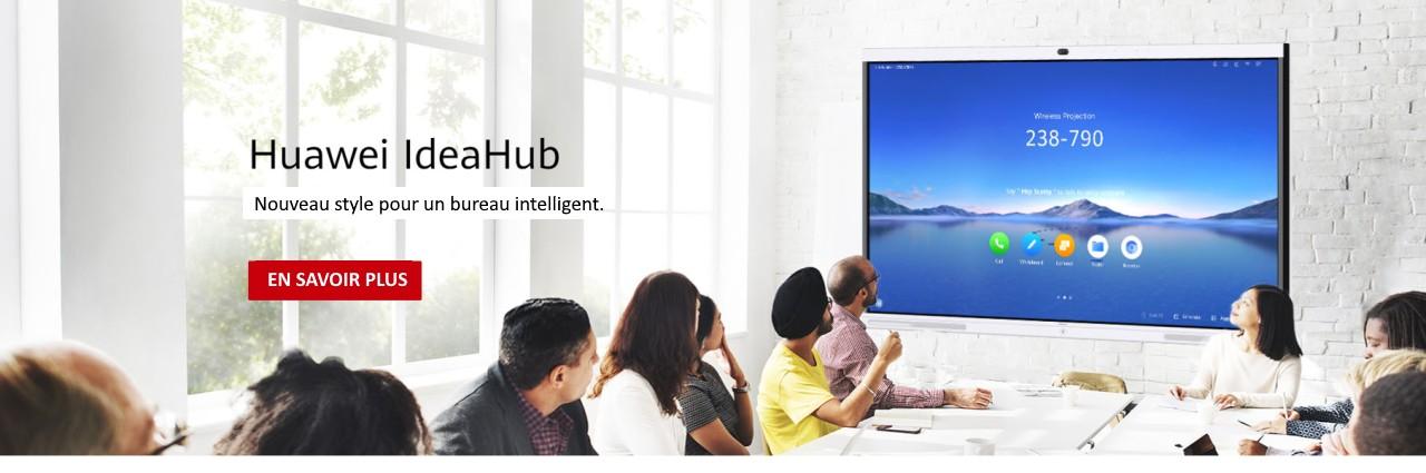 IdeaHub associe la reconnaissance intelligente de l'écriture manuscrite, la vidéoconférence haute définition (HD) et le partage sans fil, ainsi que la plateforme AppGallery,
